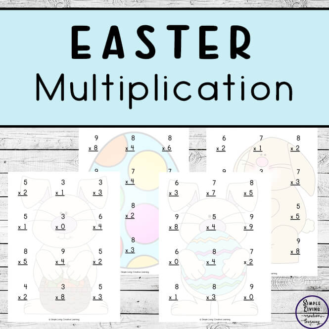 Easter Multiplication Pages