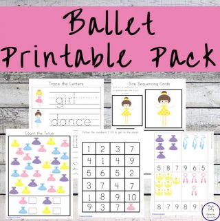 This Ballet Printable Pack contains lots of fun and educational ballet-themed activities for kids ages 2 - 9 who love to dance.