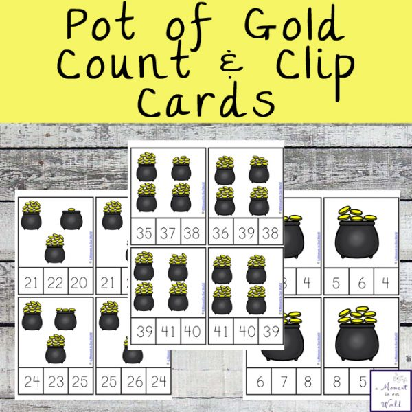 These Pot of Gold Count and Clip Cards are a great way to practice counting from 0 - 40.