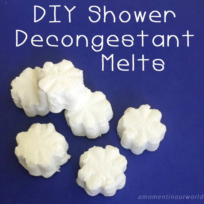 these DIY Shower Decongestant Melts that are simple to make and easy to use.