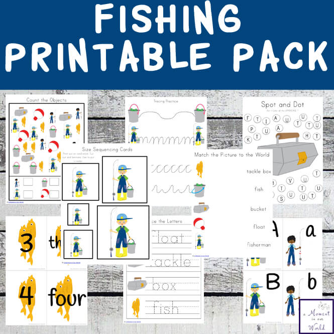 This Fishing Printable Pack is great for kids aged 2 - 9.