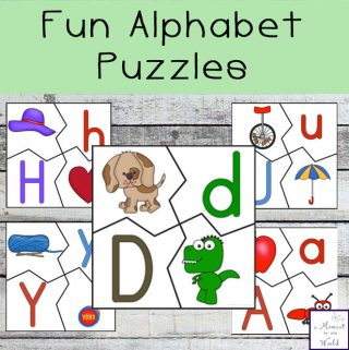 These fun Alphabet Puzzles are great for helping children learn the letters of the alphabet.