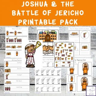 This Joshua and the Battle of Jericho Printable Pack is a great way to teach children ages 2 - 9 about this amazing battle.