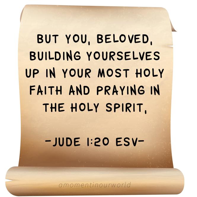 Monday Memory Verse: Jude 1:20