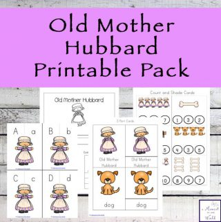 This Old Mother Hubbard Printable Pack contains many fun, educational activities for the young kids aged 2 - 9.