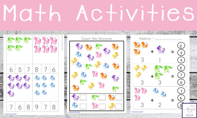 This fun Unicorn Printable Pack is great for kids ages 2 - 9.