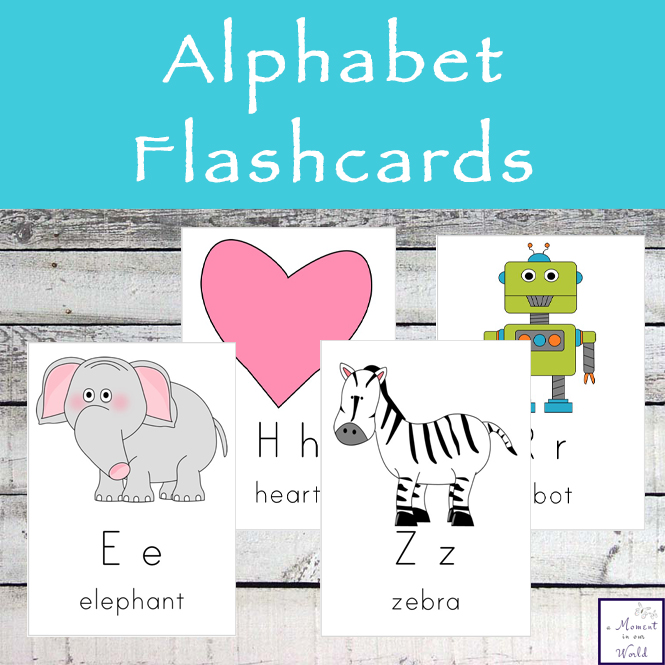 These clear alphabet flashcards are 5x7 in size and can be used in a variety of activities.