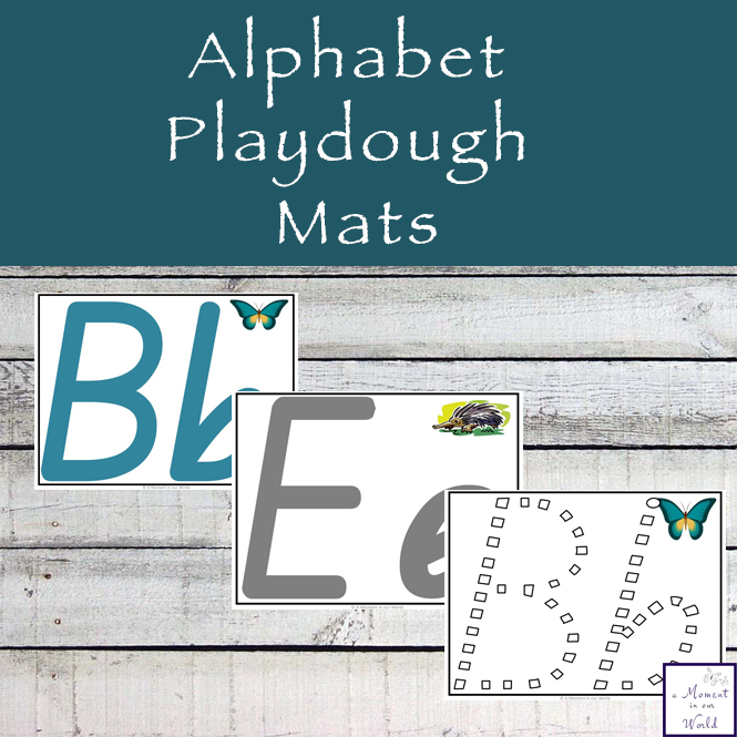 These Alphabet Playdough Mats are a great way to introduce children to writing the letters of the alphabet. These are in the QLD, Australian Font.