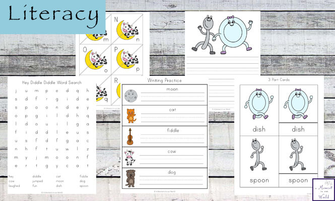 This Hey Diddle Diddle Printable Pack is aimed at children ages 3 - 8 and includes a variety of hands-on and worksheet activities.