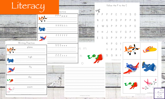 Get Up, Up and Away with this Planes Tots to Prep Printable Pack that is perfect for kids who loves planes and for those families who are looking at taking their young children on their first plane ride.