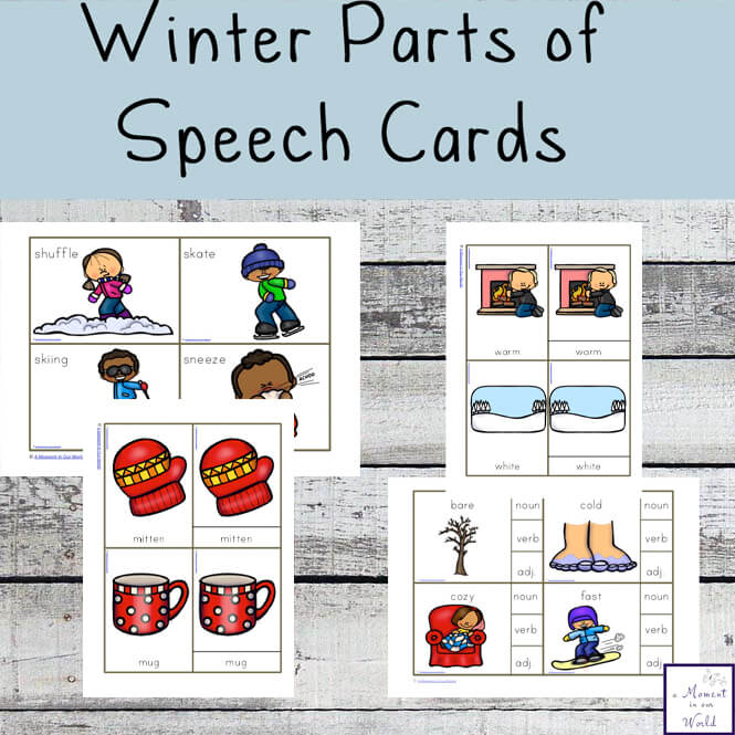 Winter Parts of Speech Cards