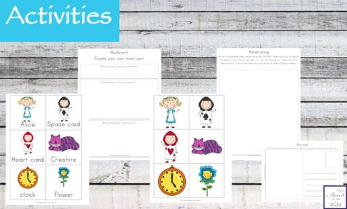 This Alice in Wonderland Inspired printable pack is aimed for children in grades one to three.