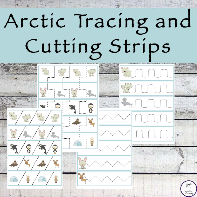 These Arctic Tracing and Cutting Strips will have your child enjoying practicing their fine motor skills as well as proper scissor safety.