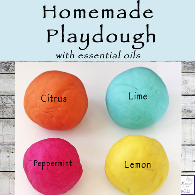 Homemade playdough with essential oils not only smells amazing, but it contains all the benefits of essential oils as well.