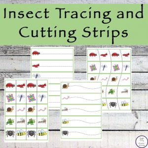 These Insect Tracing and Cutting Strips will have your child enjoying practicing their fine motor skills as well as proper scissor safety.