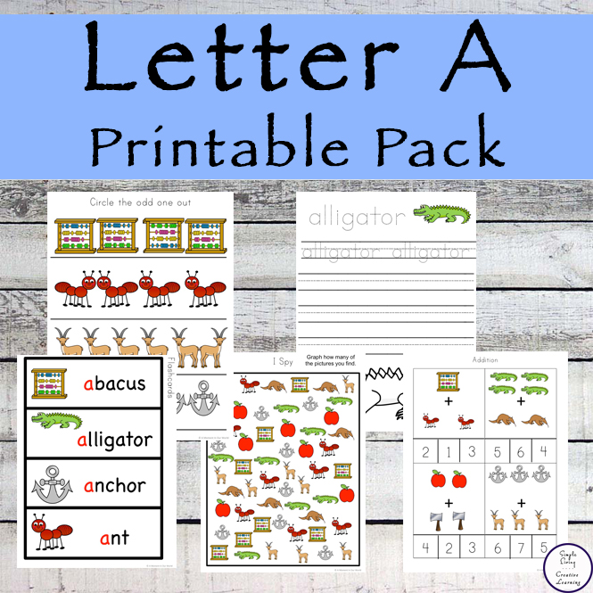 This Letter A Printable Pack is the first in our alphabet series. Aimed for children aged 3 - 9, it contains a variety of activities.