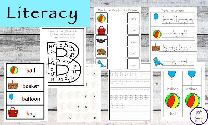 This Letter B Printable Pack is aimed for children aged 3 - 9 and contains a variety of activities; simple math concepts, literacy and hands-on activities.