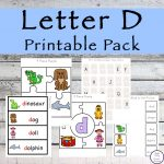 This Letter D Printable Pack is aimed for children aged 3 - 9 and contains a variety of activities; simple math concepts, literacy and hands-on activities.