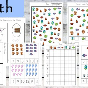 This Letter F Printable Pack is aimed for children aged 3 - 9 and contains a variety of activities; simple math concepts, literacy and hands-on activities.