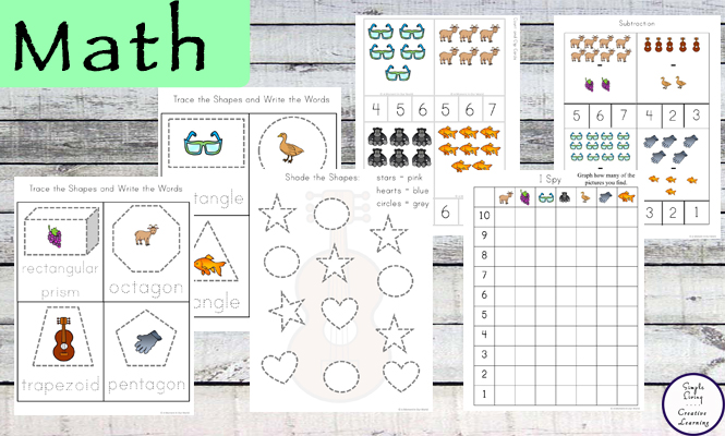 This Letter G Printable Pack is aimed for children aged 3 - 9 and contains a variety of activities; simple math concepts, literacy and hands-on activities.