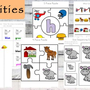 This Letter H Printable Pack is aimed for children aged 3 - 9 and contains a variety of activities; simple math concepts, literacy and hands-on activities.