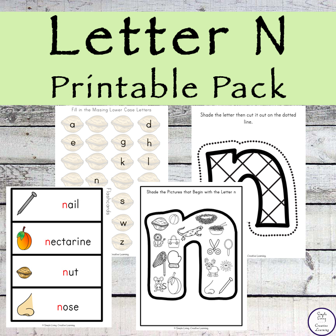 This Letter N Printable Pack is aimed for children aged 3 - 9 and contains a variety of activities; simple math concepts, literacy and hands-on activities.