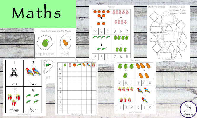 This Letter P Printable Pack is aimed for children aged 3 - 9 and contains a variety of activities; simple math concepts, literacy and hands-on activities.