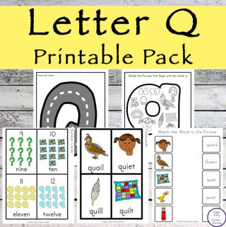 {Letter of the Week} Letter Q Printable Pack