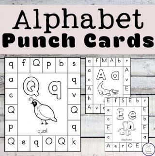 These alphabet punch cards are a fun way for kids to practice their letter recognition while also working on their fine motor skills.