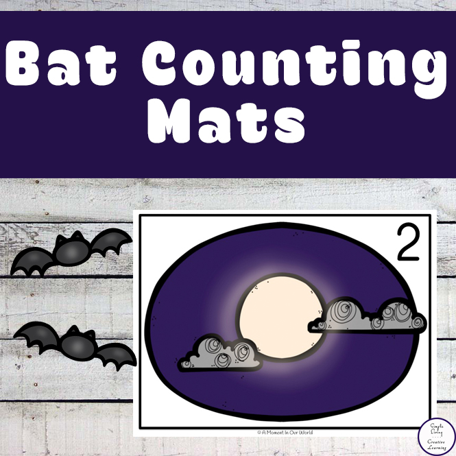 These Bat Counting Mats focus on the numbers 1 – 20, though there are blank pages for you to increase their learning.