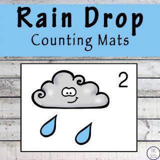 Focusing on the numbers 1 - 20, these Rain Drop Counting Mats are a fun, hands-on math activity that preschoolers and toddlers will love.