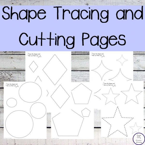 These shape tracing and cutting pages will help improve your child's fine motor skills and while helping them learn their shapes.