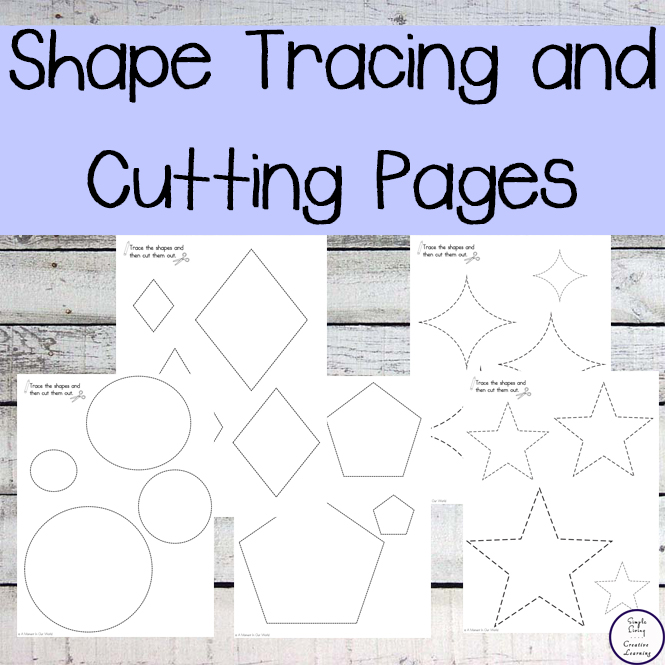 shape tracing and cutting pages