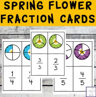 Spring Fraction Cards
