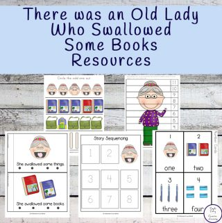 There Was An Old Lady Who Swallowed Some Books Activity
