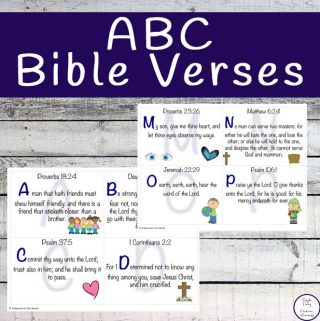 These ABC Bible Verse cards are great for memorising verses from the Bible.