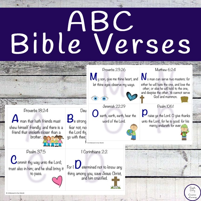 ABC Bible Verse cards