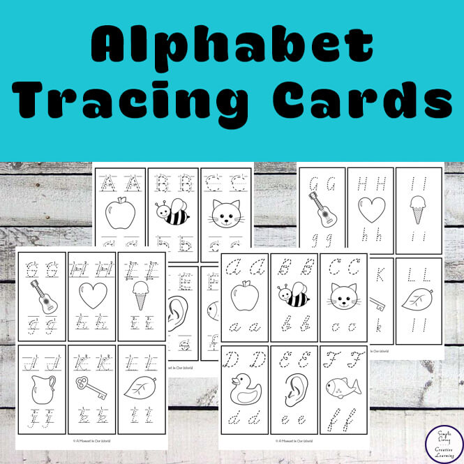 These alphabet tracing cards are a great way for kids to practice letter formation.