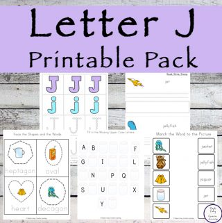 {Letter of the Week} Letter J Printable Pack