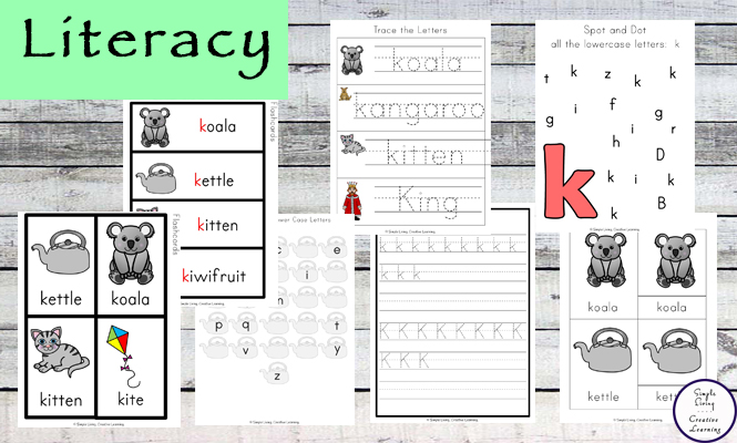 This Letter K Printable Pack is aimed for children aged 3 - 9 and contains a variety of activities; simple math concepts, literacy and hands-on activities.