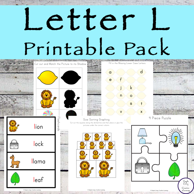 This Letter L Printable Pack is aimed for children aged 3 - 9 and contains a variety of activities; simple math concepts, literacy and hands-on activities.