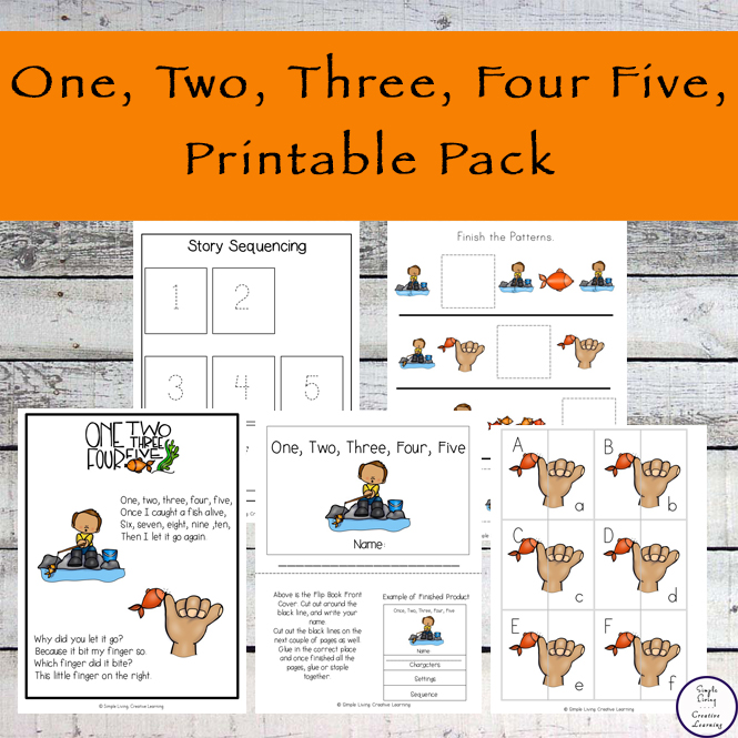 This One, two, three, four, five printable pack is aimed at children in kindergarten and preschool and includes over 90 pages of fun and learning.