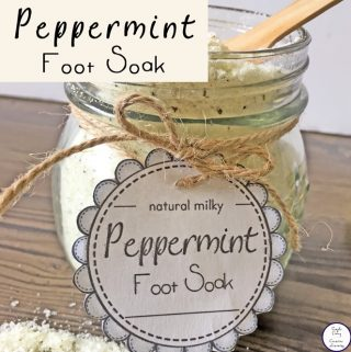 Soothe tired feet with this amazing Peppermint Foot Soak.