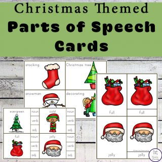 These Christmas Parts of Speech Cards are can be used in a variety of ways to teach your children about nouns, verbs and adjectives.