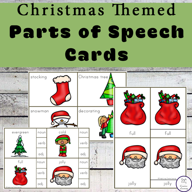 Christmas Parts of Speech Cards