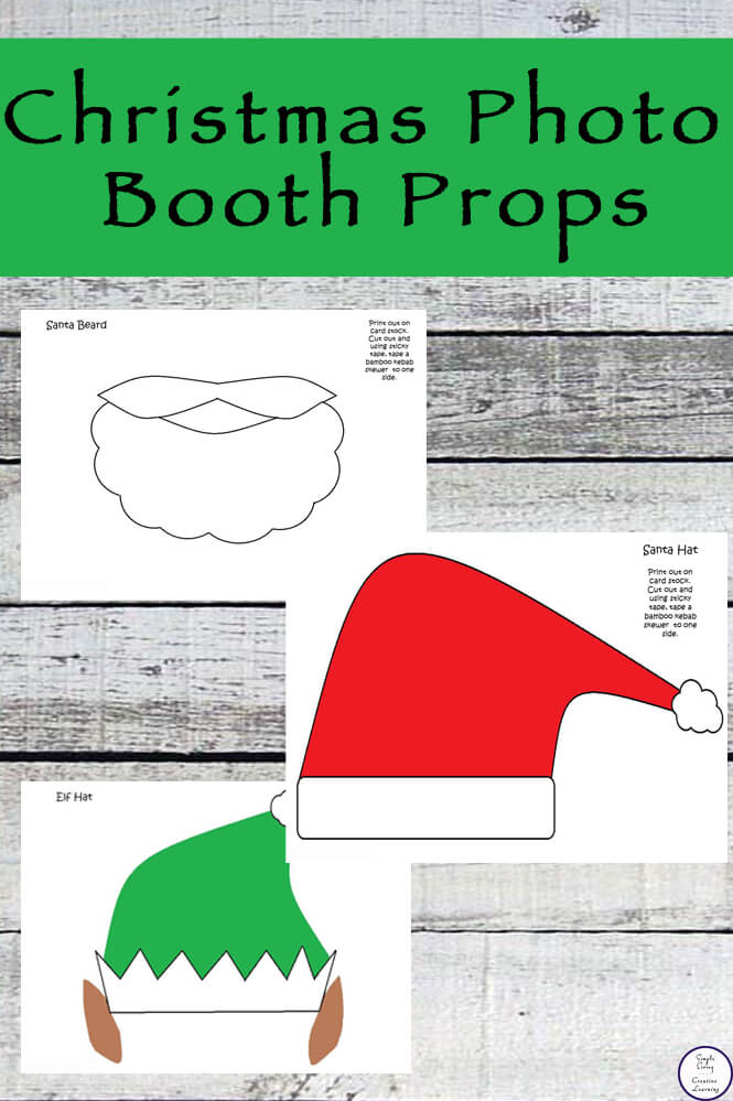 These Christmas Photo Booth Props are a fun addition to your Christmas photos this year. They are also very easy to prepare.