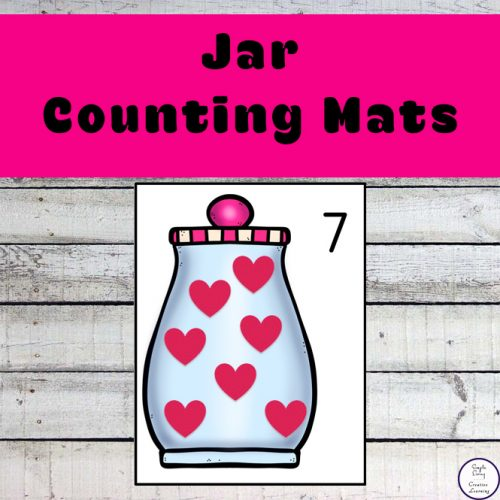 These Jar Counting Mats focus on the numbers 1 – 20, though there are blank pages for you to increase their learning.