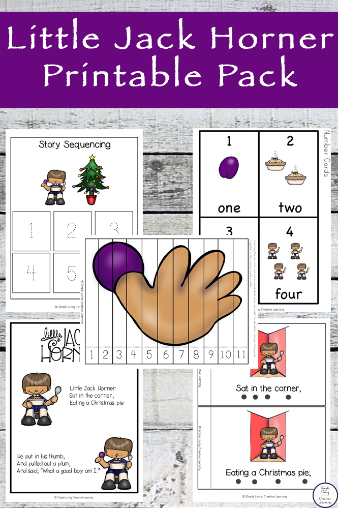 This Little Jack Horner printable pack is aimed at children in kindergarten and preschool and includes over 80 pages of fun and learning.