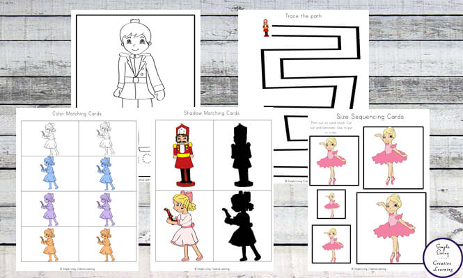 This free Nutcracker Mini Printable Pack, aimed at kids aged 2 - 8, goes well with both the book and the ballet: The Nutcracker.