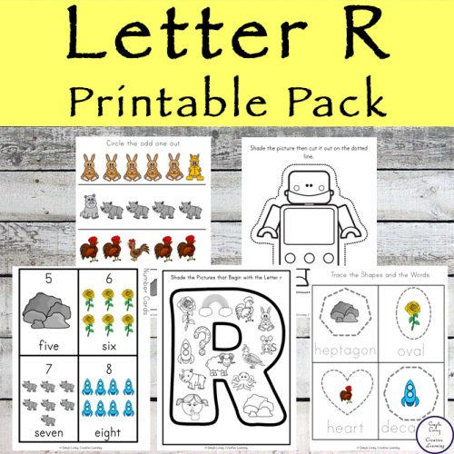 This Letter R Printable Pack is aimed for children aged 3 - 9 and contains a variety of activities; simple math concepts, literacy and hands-on activities.